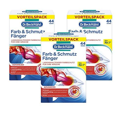 Dr. Beckmann Farb & Schmutz Fänger - Verfärbungsschutz 44 Tücher (3er Pack)