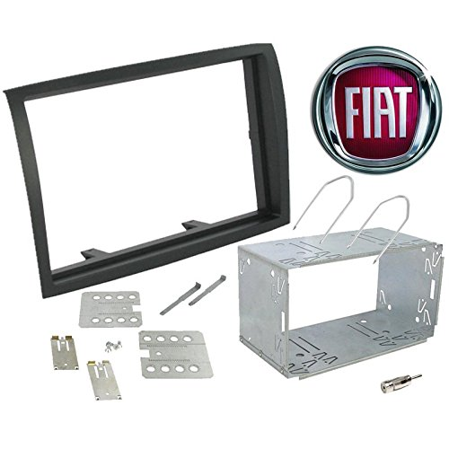 Sound Way Kit Montaggio Mascherina Adattatore connettore autoradio 2 DIN Fiat Ducato/Citroen Jumper/Peujeot Boxer dal 2011 con planci