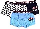 6 x Boxershorts Sweet Years 10 Jahre 140 cm 2 Himmel Navy Fantasia Art. SW80019J