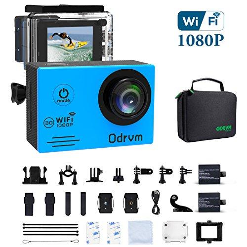 WiFi Action Camera Waterproof Cameras - HD 1080P Underwater Camera...