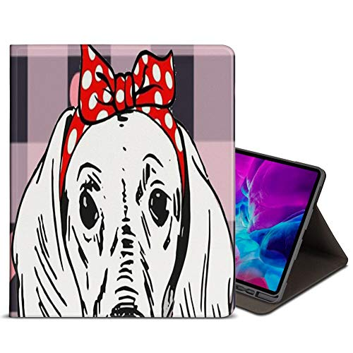 iPad Pro 12.9 2020 4th Case Premium Leather Stand Folio Case Cover Dachshund Pattern Supports Apple Pen Charging for iPad Pro 12.9 2020 4th