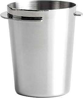 DEECOZY Doseringsmugg, rostfritt stål pulver mottagande kopp kaffe dosering kopp dammmatare delar för maskin dosering koppar