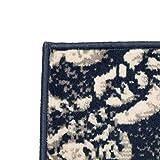 Xingshuoonline Teppich Modern Barock-Ornamente Vintage Beige/Blau für Wohnzimmer Schlafzimmer Vorleger 160 x 230 cm