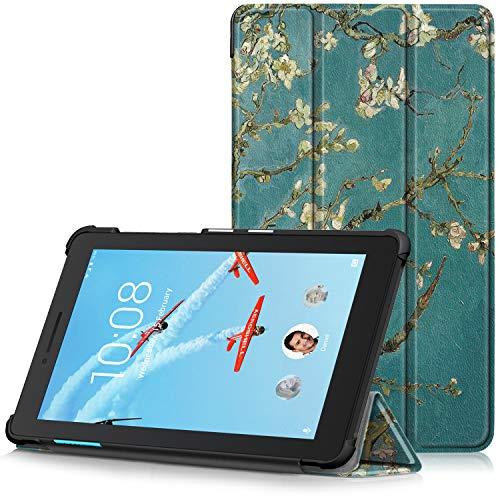 TTVie Case for Lenovo Tab E7 - Ultra Slim Lightweight Smart Shell Stand Cover for Lenovo TAB E7 7 Inch Tablet 2018 Release, Apricot Blossom