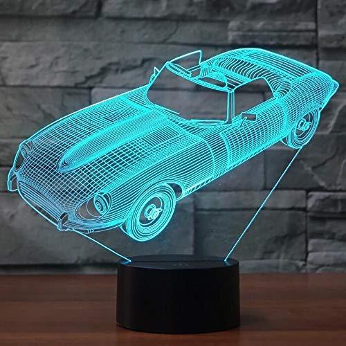 Jiushixw 3D acryl nachtlampje met afstandsbediening kleurverandering tafellamp zwart goud tafellamp auto veranderen lichtgevend nachtlicht symfonie lantaarn kinderkamer luchtlicht speelgoed geschenk