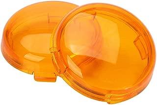 ZYTC Amber Harley Turn Signal Lens Covers Lenses for Harley-Davidson Pack of 2