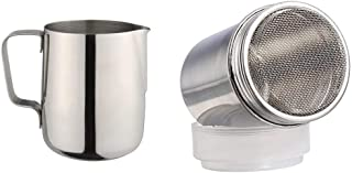CHEFYARD Stainless Steel Milk Frothing Jug Latte Maker Frothing Pitcher for Coffee & Chocolate Shaker