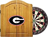Imperial Officially Licensed NCAA Merchandise: Dart Cabinet Set with Steel Tip Bristle Dartboard, Georgia Bulldogs