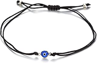 6pcs Red/Black String Kabbalah Turkish Evil Eye Charm Bracelets for Protection and Luck Adjustable Hand-Woven Red Cord Thread Friendship Bracelet Amulet Jewelry