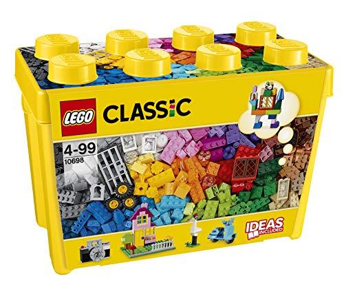 LEGO - Classic Scatola Mattoncini Creativi Grande per Liberare la Tua Fantasia e Stimolare la Tua Creatività, Giocattolo e Idea Regalo per Bambini dai 4 Anni, 10698