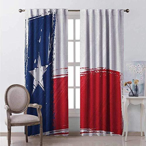 Verdunkelungsvorhänge, Wärmeisolierung/Wärme im Winter, können Innenmöbel schützen & ultraviolette Strahlung reduzieren Retro-Flagge des Aquarellpinselstrichs der Nationalflagge