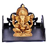 DecorDen Wooden Wall Mount Temple for Home,Wooden Home Temple/Wall Shelf/Pooja Mandir / Pooja Stand / Wooden Mandir / Devghar / Devara / Pooja Shelf / Small Temple for Office/ House Temple (Black)