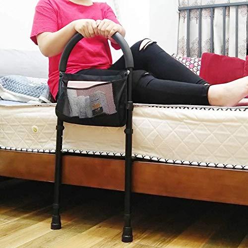 XJZKA Barra de Asistencia para Cama Ajustable en Altura, barandillas de Cama con Bolsillo de Almacenamiento Asistencia para Ancianos discapacitados Que se levantan de la Cama
