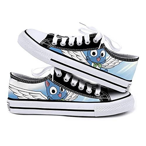 NIEWEI-YI Fairy Tail Anime Canvas Shoes Unisex Casual Sneaker Shoes Sports Shoes,43 EU