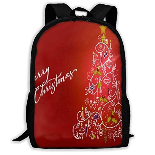 huatongxin Backpack Images About The Red Christmas Zipper School Bookbag Daypack Travel Rucksack Gym Bag for Man Women