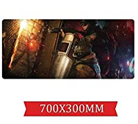 マウスパッドレインボー包囲速度 ゲームマウスパッド  XXLマウスパッド  700 x 300mm大型 完璧な精度とスピード E