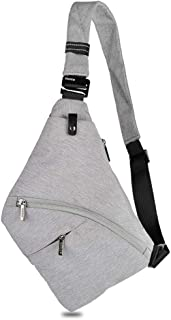 Walory Bolsa de Honda - Sling Bag Male Front Cross Bandolera Antirrobo Bolsa de Bolsillo de Pecho de Seguridad Bolso Bando...