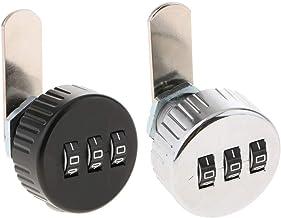 H HILABEE 2 stuks 3-cijferig combinatie-nokkenslot gecodeerd slot combinatieslot mini size