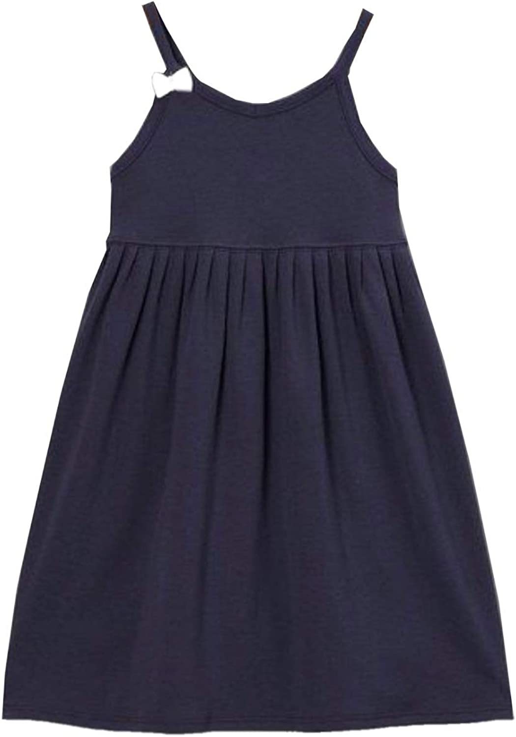 The Season Essentials Kidsy Girls Strappy Dress Solid Colors, Stripes for Toddler Baby Girls 2 3 4 5 6 8 Years