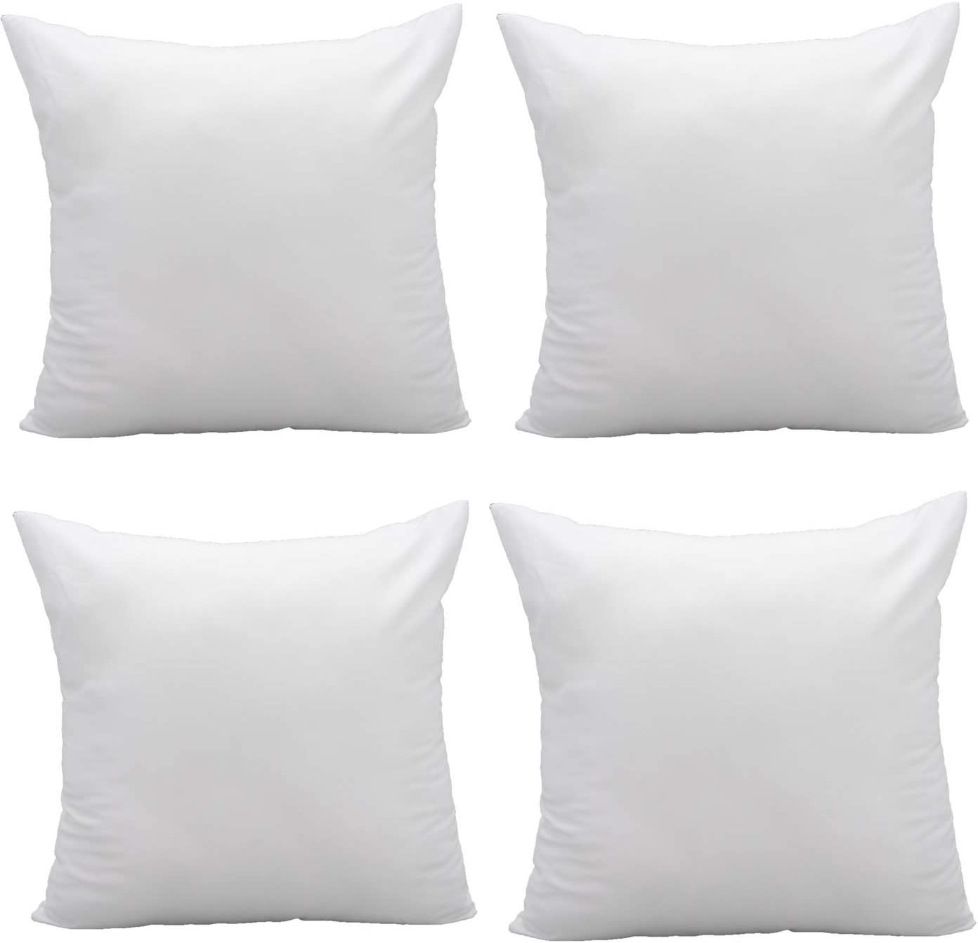 Pal Fabric Pack of 4 Square Pillow Insert for Sham or Decorative Pillow for 18x18 Cover 20x20 Nonwoven- Economy Pack