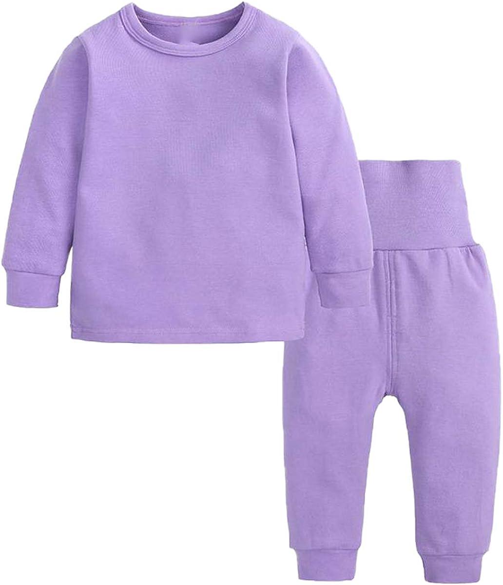 Toddler Girl's Thermal Underwear Set Base Layer Top & Bottom Set, Purple, 2-3T = Tag 110