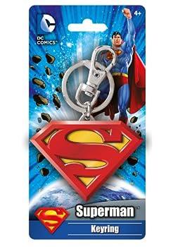 DC Colored Superman Logo Pewter Key Ring