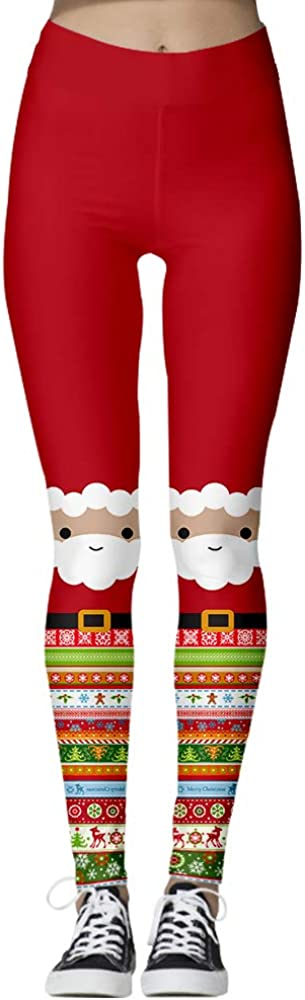 ENLACHIC Women's 3D Printed Cat shipfree Fun Leggings Christmas Ugly Ranking TOP19 Xmas