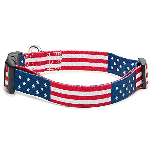 American Flag Dog Collar in 5 Different Sizes Classic (Medium)