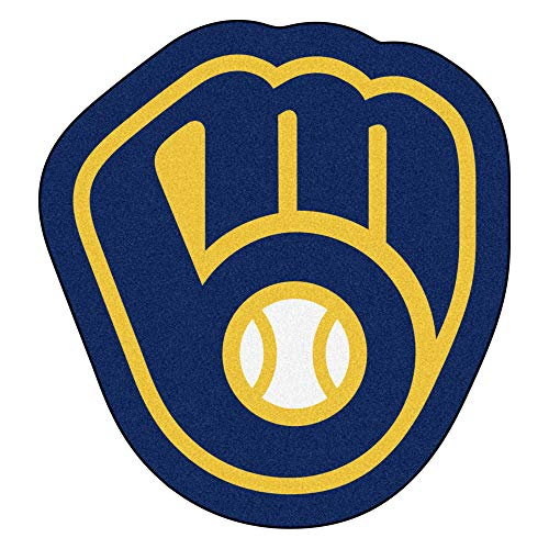milwaukee brewers FANMATS MLB Milwaukee Brewers Mascot Mat, Team Color, One Size