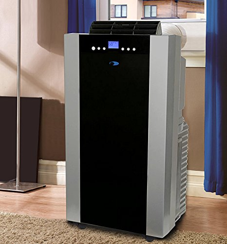 Whynter ARC-14S 14,000 BTU Dual Hose Portable Air Conditioner, Dehumidifier, Fan with Activated Carbon Filter plus Storage bag for Rooms up to 500 sq ft,Platinum And Black