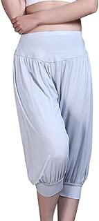 Baymate Femme Elastique Pantalon de Yoga Danse du Ventre Fitness Pantalons Sport Grande Taille