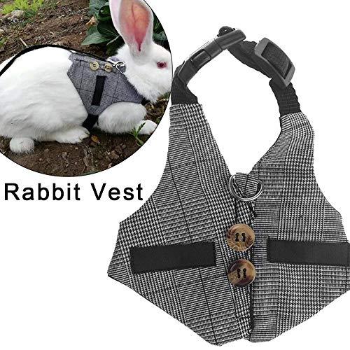 didatecar Juego de arnés para hámster/Conejo con Correa Suave y Transpirable, para Mascotas y Otros Animales pequeños