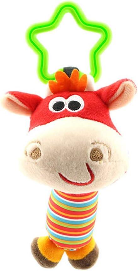 YOSIYO Infantil del beb/é de los ni/ños Espiral de Actividades Cama Cochecito de Juguete Que cuelga Vaca Mono Perro Juguetes al Azar del Color de la Estrella en Forma de Anillo