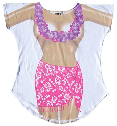 Fantasy Cover-ups Damen-Badeanzug, Übergröße, ohne Oberteil - Weiß - Einheitsgröße Plus