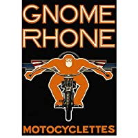 ZNNHEROGnome Rhonemotocyclettesポスターとプリントウォールアートリビングルームの装飾のためのキャンバス絵画-50X70Cmx1フレームなし