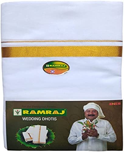 Men s Cotton Dhoti White Free Size