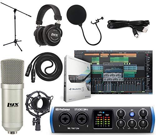 PreSonus Studio 24c 2x2 USB TypeC Audio/MIDI Interface Studio Bundle with Studio One Artist Software Pack