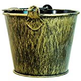 QMFS Cenicero Exterior, Cenicero Retro en Forma de Cubo, Hierro Forjado Cenicero de Metal, Sala de Estar Bar Oficina Adornos de Estilo Industrial Regalo de Fumador Ceniceros Vintage Bucket