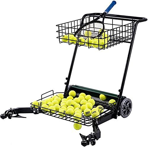 Tennis bal picker tennisbal, Tennis Ball Maaier Staal Draagbare Tennis bal picker tennis bal pick-up apparaat met wielen…