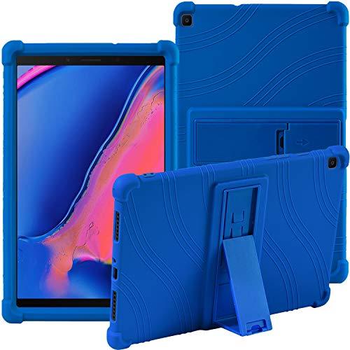 Samsung Galaxy Tab A 8.0' 2019 SM-T290 SM-T295 Case,ATOOZ PC Bracket Tablet Silicone Case,Anti-drop For Samsung Galaxy Tab A8 Cover (Blue)