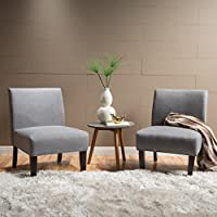 2-Set Christopher Knight Home Kendal Grey Fabric Accent Chair