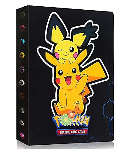 Album Compatible Avec Cartes Pokemon GX EX MEGA, Classeur compatible avec cartes Pokemon, Porte Album de cartes à collectionner, Peut contenir 240 cartes (HS-PK)