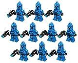 10 New Lego Star Wars Senate Commando Trooper Minifig Lot 75088 Grunt Blue Clone