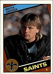 1984 Topps #300 Morten Andersen EX/NM RC New Orleans Saints Football J2M