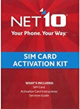 Net10 SIM Card Activation Kit