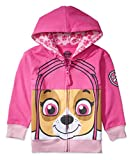 Nickelodeon Toddler Paw Patrol Character Big Face Costume Zip-up Hoodies (3T, Sky)