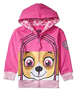 Nickelodeon Toddler Paw Patrol Character Big Face Costume Zip-up Hoodies  2T Sky