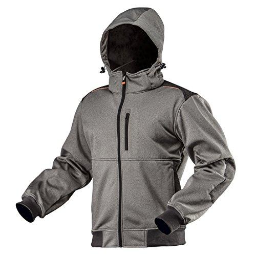 NEO TOOLS Veste softshell pour l'hiver Gris imperméable Veste de travail Veste de travail Outdoor Veste de sécurité Veste de randonnée L