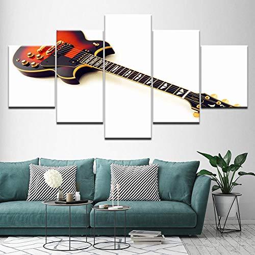 rkmaster-Canvas Schilderij Sg 2000 Elektrische Gitaar 5 Stuks Muurschildering Modulaire Wallpaper Poster Print Home Decor