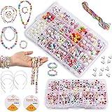 Bricolaje Conjunto de Cuentas, 1200PCS 24 Clases DIY Pulseras Kit Abalorios Kits,Cuentas de letras...